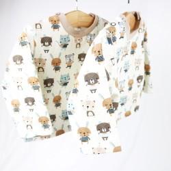 Tee_shirt les amis chéris une idée cadeau de naissance du 3 au 24 mois, matières biologiques.