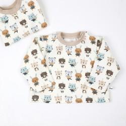 Tee_shirt les amis chéris en coton organique au motif enfantin.