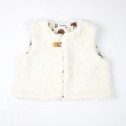 Gilet de berger en coton biologique du 3 au 24 mois, création originale.