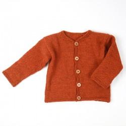 Cardigan bébé création française en pure laine vierge, idée cadeau de naissance.
