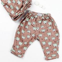 Pantalon création couture pour bébé en tissus certifiés Oekotex de fabrication artisanale et soignée.