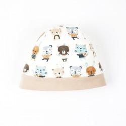 Bonnet bébé tout doux, collection les amis chéris, en matières biologiques, création française.