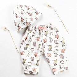 Adorable petit pantalon animaux des bois, mignon avec son petit noeud décoratif et écolo !