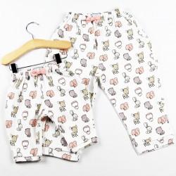 Du 3 au 24 mois, pantalon tout doux réalisé en coton biologique.