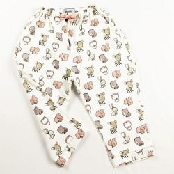 Tissu biologique pour ce petit pantalon de bébé fabriqué en France de façon artisanale.