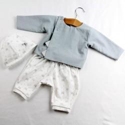 Un cadeau de naissance original en chambray écolo, habillé et naturel!