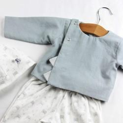 Petite veste facile à assortir en coton bio doublée