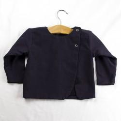 Veste création couture pour bébé en tissu certifié bio de fabrication artisanale et soignée.