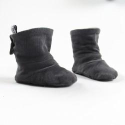 Idée cadeau de naissance pour ces petites bottes  enfantines façon layette nature