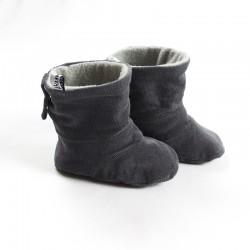 Tissu biologique pour fabriquer ces petites bottes de bébé de façon artisanale