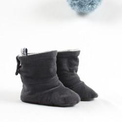 Petites bottes  rustiques et bio en gris foncé