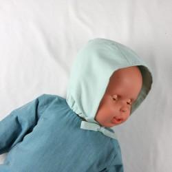 Petit bonnet coupe béguin en coton bio, mignon et écolo pour un bébé mode rétro !
