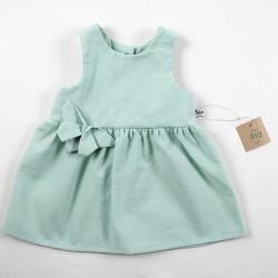 Création originale pour cette petite robe d'été en coton tout doux bio spécial bébé