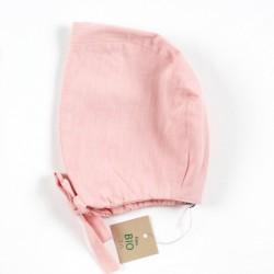 Béguin bébé bonnet modèle classique style rétro en coton rose