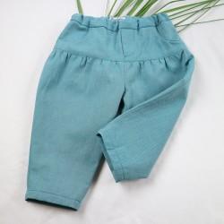 Petit pantalon fille, mignon et écolo pour un bébé mode