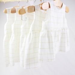 Robe bébé création couture  en tissu certifié oeko-tex et bio de fabrication artisanale et soignée