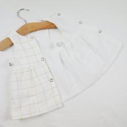 robe bébé entièrement doublée d'un voile de coton biologique.
