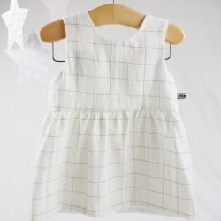 Un cadeau de naissance unique élégante robe 100% coton oeko-tex et bio, la mode au naturel!