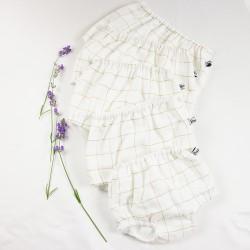 Tissu biologique pour fabriquer ce petit bloomer de façon artisanale en France