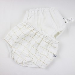 Création originale culotte bloomer fillette oeko tex et bio spécial bébé