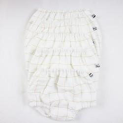 Culotte bébé création couture  en tissu certifié oeko-tex et bio de fabrication artisanale et soignée