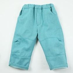 pantalon de bébé en denim bio coupe structurée