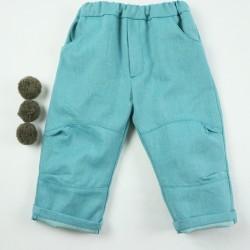 Pantalon toute saison création couture  en tissu certifié bio de fabrication artisanale et soignée