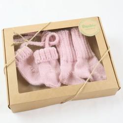 Coffret naissance tricoté certifié Gots