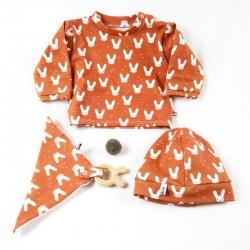 Ensemble bio bébé création couture  en tissu certifié  bio de fabrication artisanale et soignée