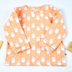 Un cadeau de naissance unique élégant tee-shit manches longues 100% coton bio, la mode au naturel!