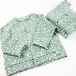 Création originale pour cette veste unisexe bio spécial bébé