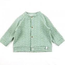 Veste pour bébé création couture  en tissu certifié bio de fabrication artisanale et soignée