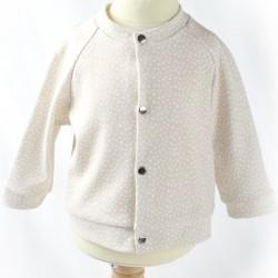 Version beige petite veste bébé manches raglan
