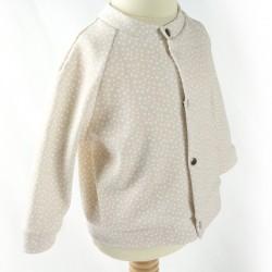 Gilet bébé mixte coton biologique boutonné devant