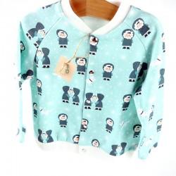 Vêtement bio bébé thème banquise aux coloris tranchés.