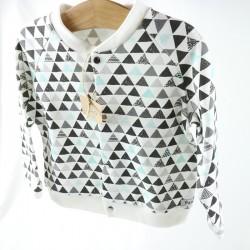 Veste bébé motifs triangles collection montagne en coton biologique