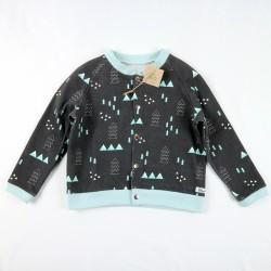 Un cadeau de naissance unique, élégante veste en coton bio, la mode au naturel!