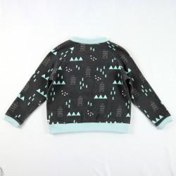 Veste bébé noire création couture mixte en tissu certifié de fabrication artisanale et soignée