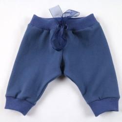 Pantalon jogging créé et fabriqué en France en coton biologique bleu myrtille.