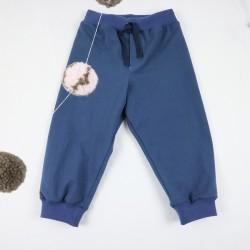 Pantalon jogging pour bébé resserrage taille avec lacet assorti.