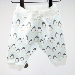 Pantalon bébé pingouins coton bio fabrication française.