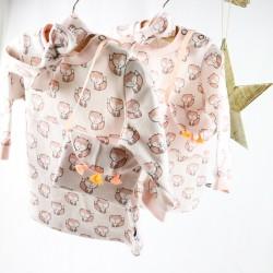 Cadeau de naissance idéal pour une petite fille, un ensemble complet mode et trendy fabriqué en France.