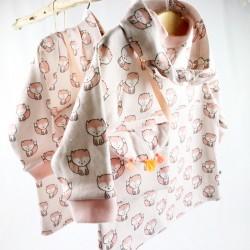 Création originale et fabrication artisanale pour ce coffret 3 pièces bébé fille.