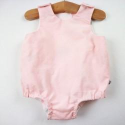 Barboteuse petit enfant  création couture en tissus certifiés bio marque Bambio.