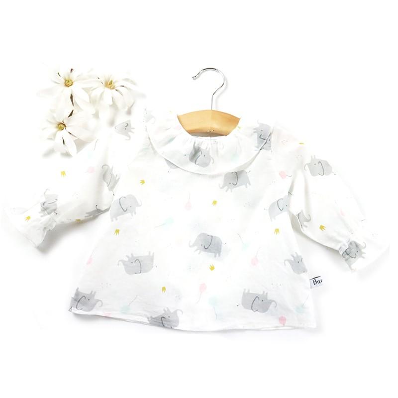 Chemise petit enfant en voile de coton qualité bio.