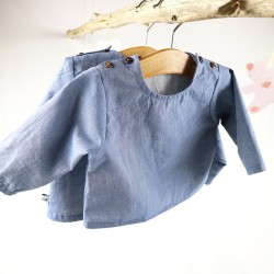 Un cadeau de naissance unique la blouse 100% coton bio, la mode au naturel!