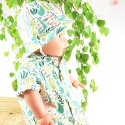 Chapeau de soleil bébé 6 mois modèle unique créateur Bambio tissu organique.