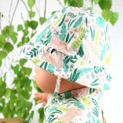 Fabrication artisanale française, accessoire bébé ce Chapeau de soleil  un cadeau unique.