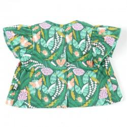 Cadeau de naissance unique la blouse 100% coton forêt un vêtement bébé bio, la mode au naturel!