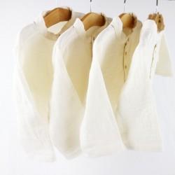 Collection Bambio chemises lange organique écru fabrication française